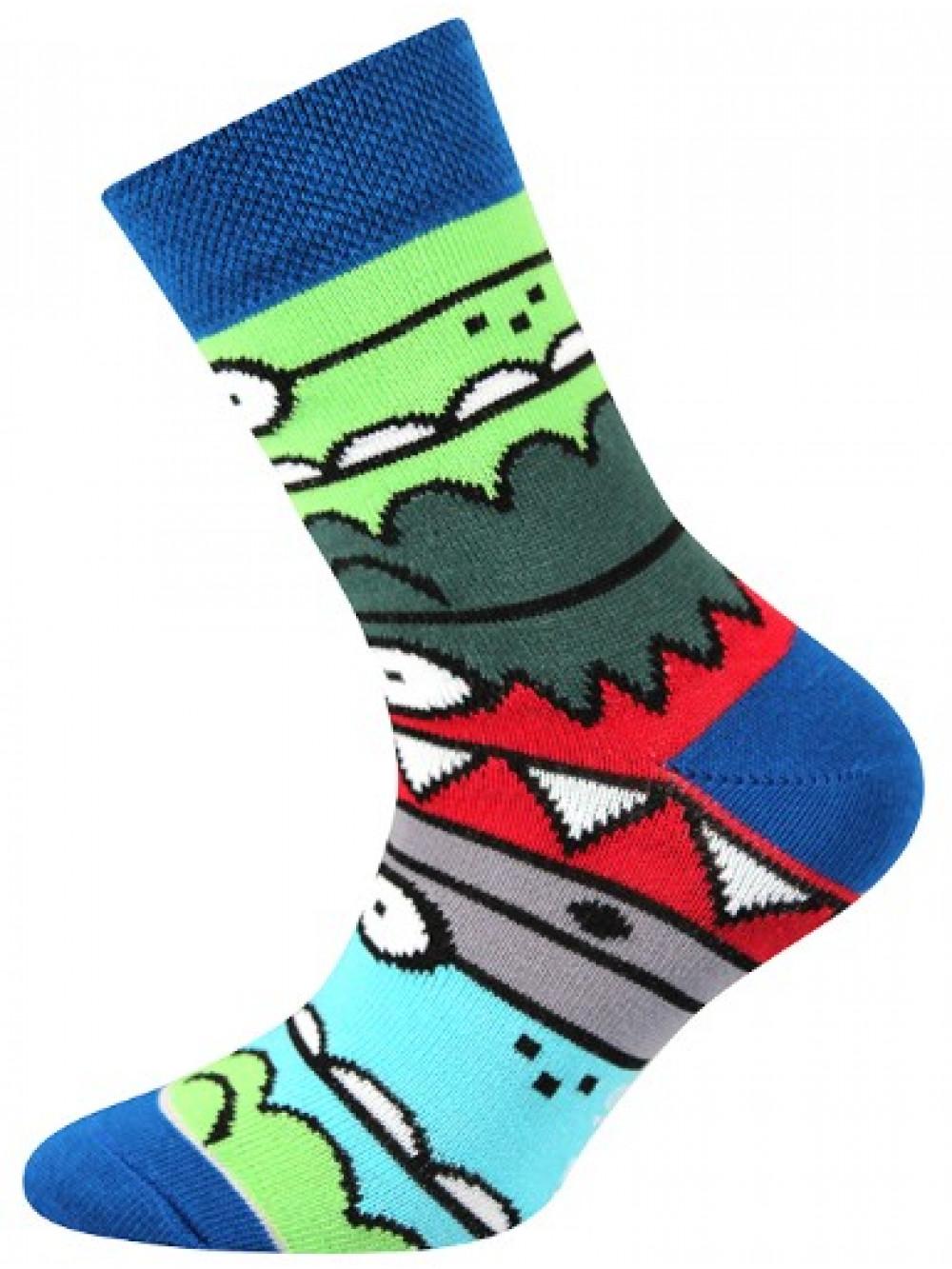 Detské ponožky Boma Monster Blue