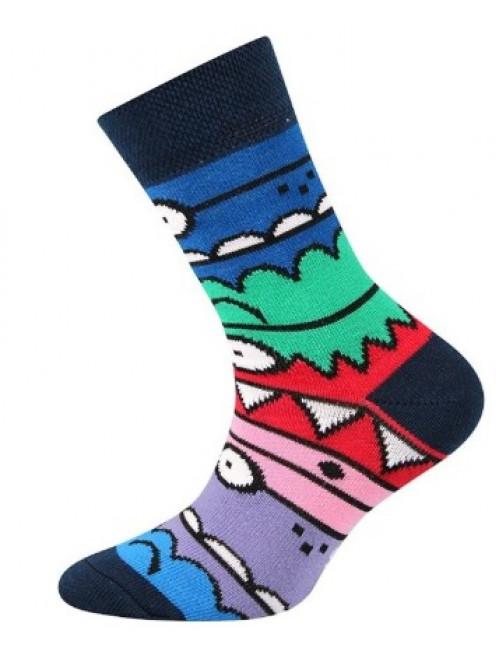 Detské ponožky Boma Monster Dark Blue
