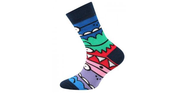 Detské ponožky Boma Monster Dark Blue 7580de23fb