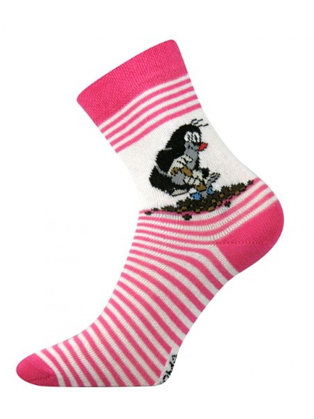 Detské ponožky Boma Krtko Ružové
