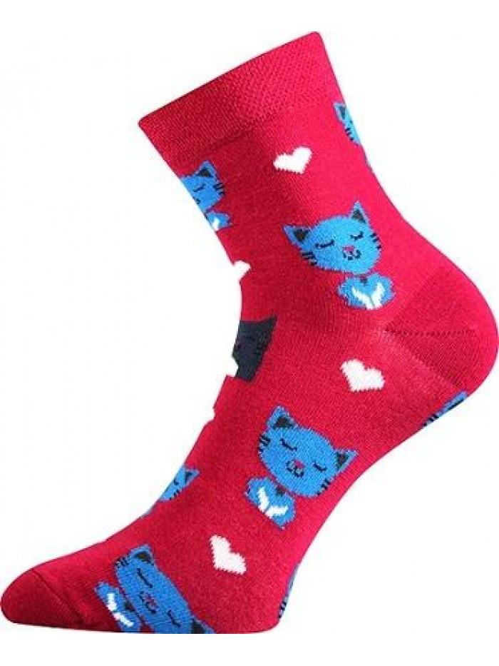 Ponožky Boma Cat Red