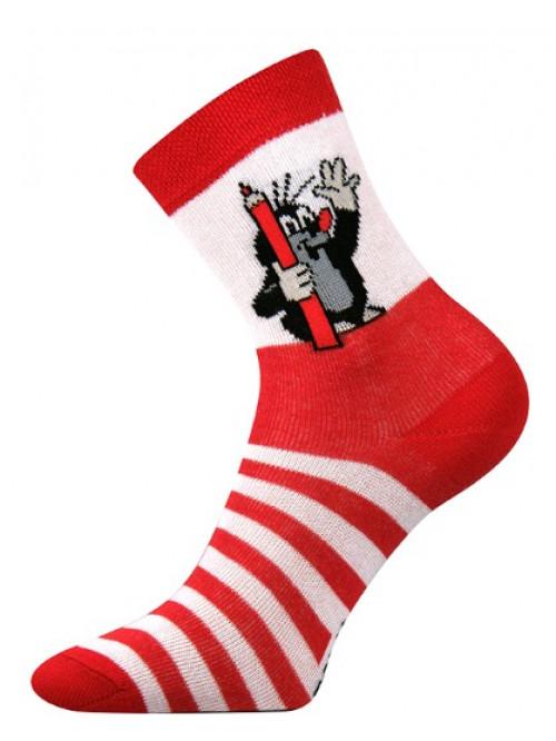 Detské ponožky Boma Krtko Červené