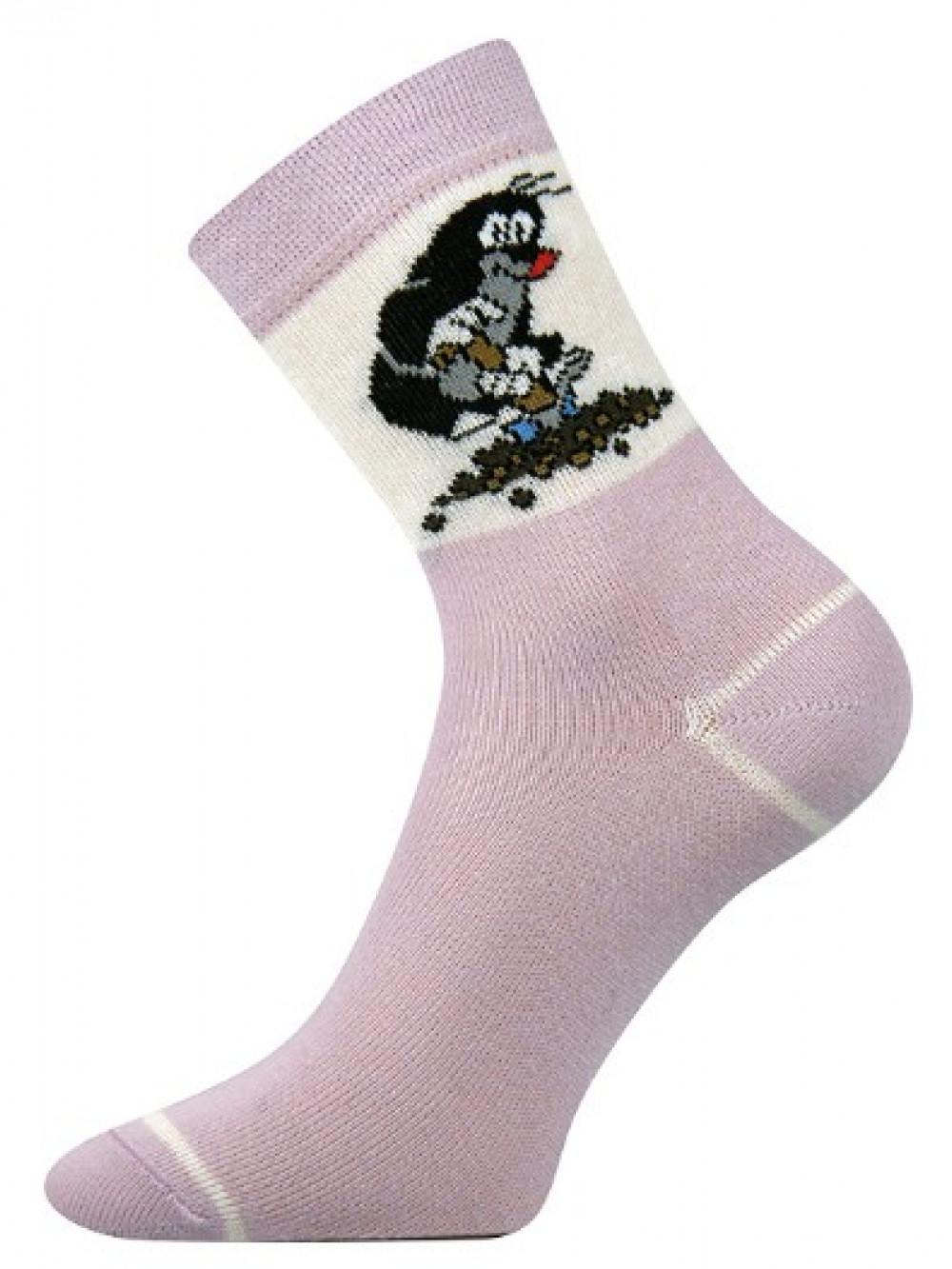 Detské ponožky Boma Krtko Fialové