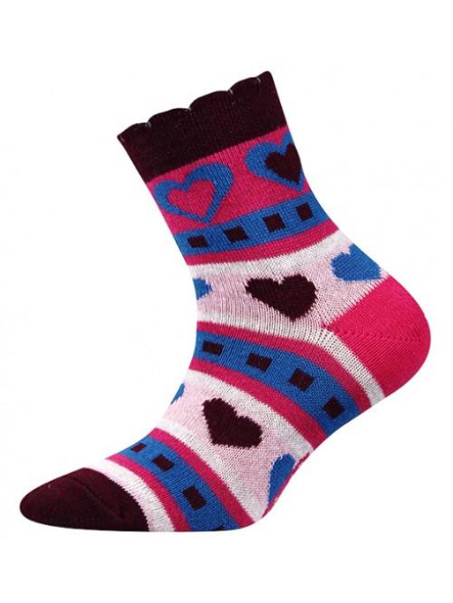 Detské ponožky Boma Larik Srdiečka