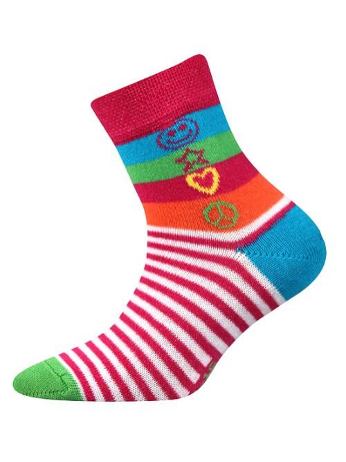 Detské ponožky Boma Larik Hippies pruhované