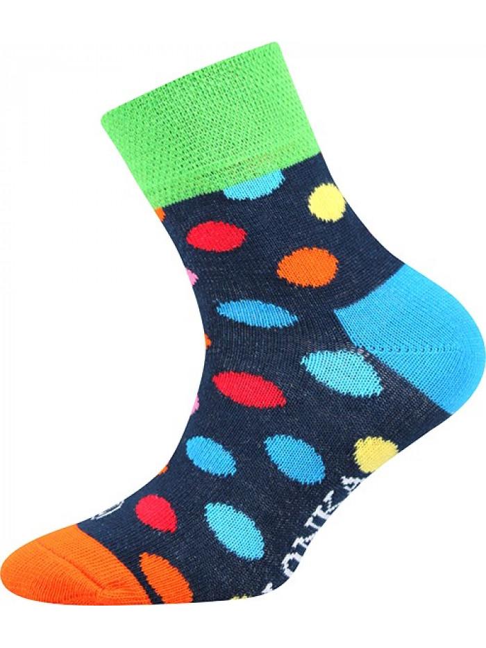 Detské ponožky Lonka Color Dots Dark Blue