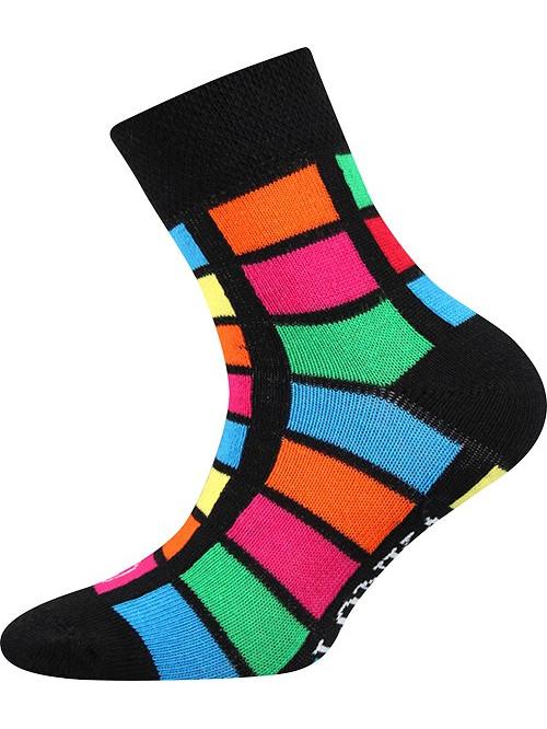 Detské ponožky Lonka Color Rectangles Black
