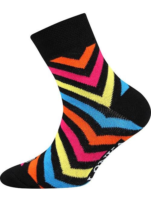 Detské ponožky Lonka Striped Black
