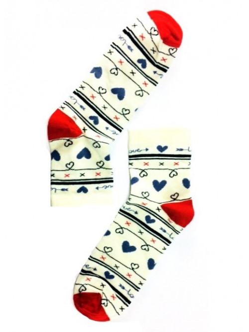 Dámske ponožky Stepa Heart krémové