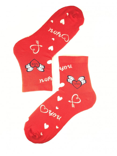Dámske ponožky Steven I Love You červené