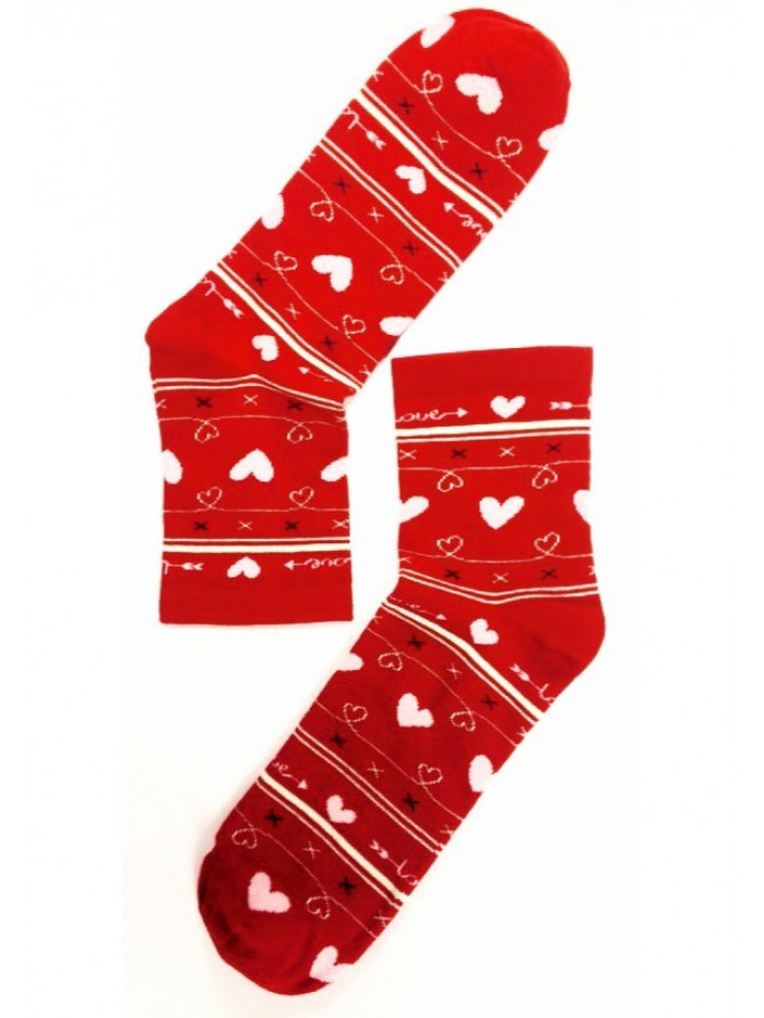Dámske ponožky Stepa Heart červené