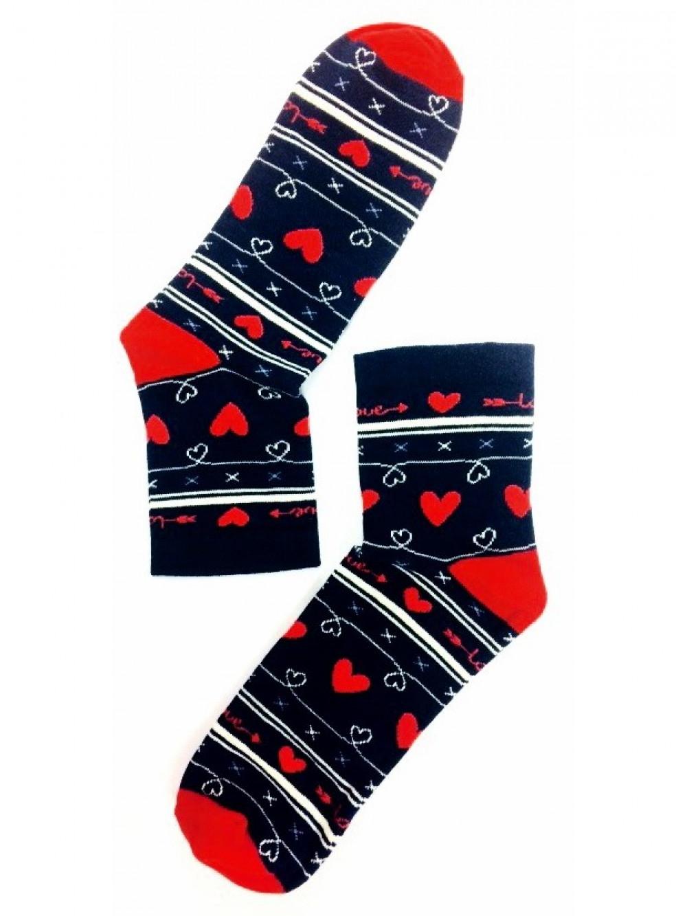 Dámske ponožky Stepa Heart čierne