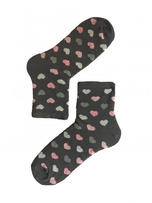 Ponožky Stepa Color Hearts tmavo-sivé