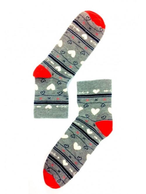 Dámske ponožky Stepa Heart sivé