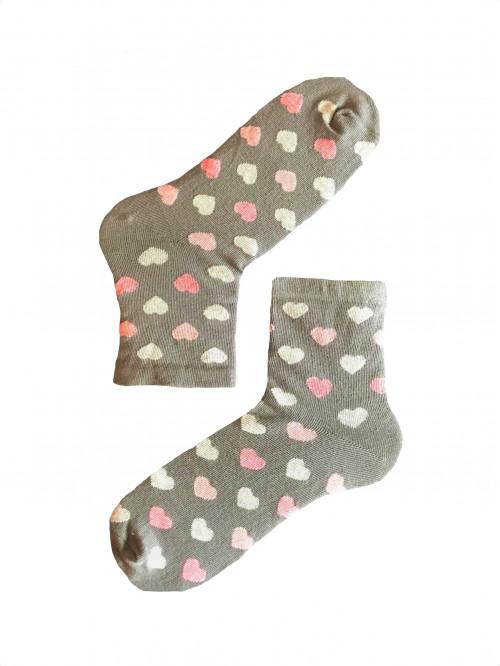 Ponožky Stepa Color Hearts svetlo- sivé