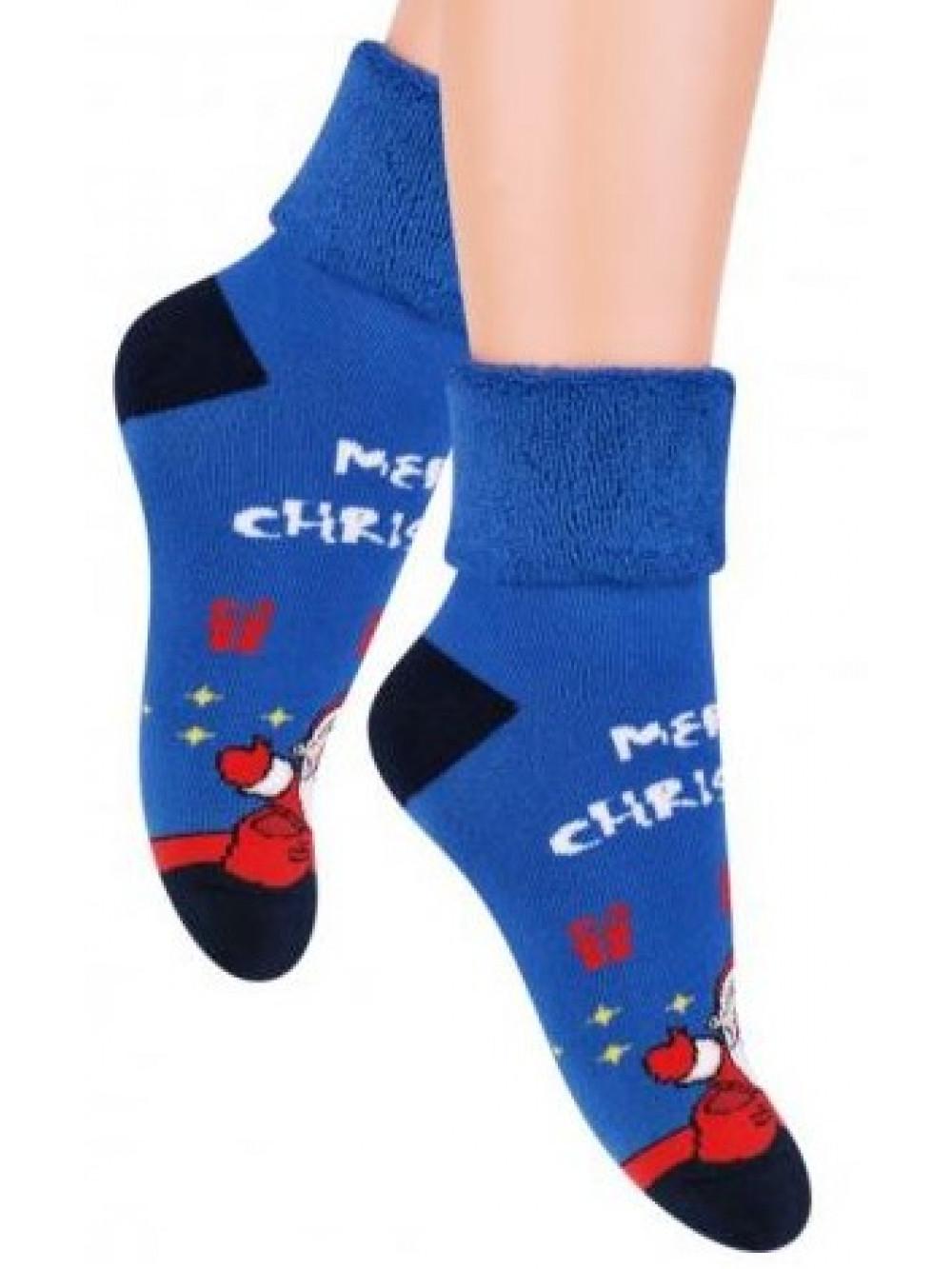 Vianočné ponožky Steven Merry Christmas Blue