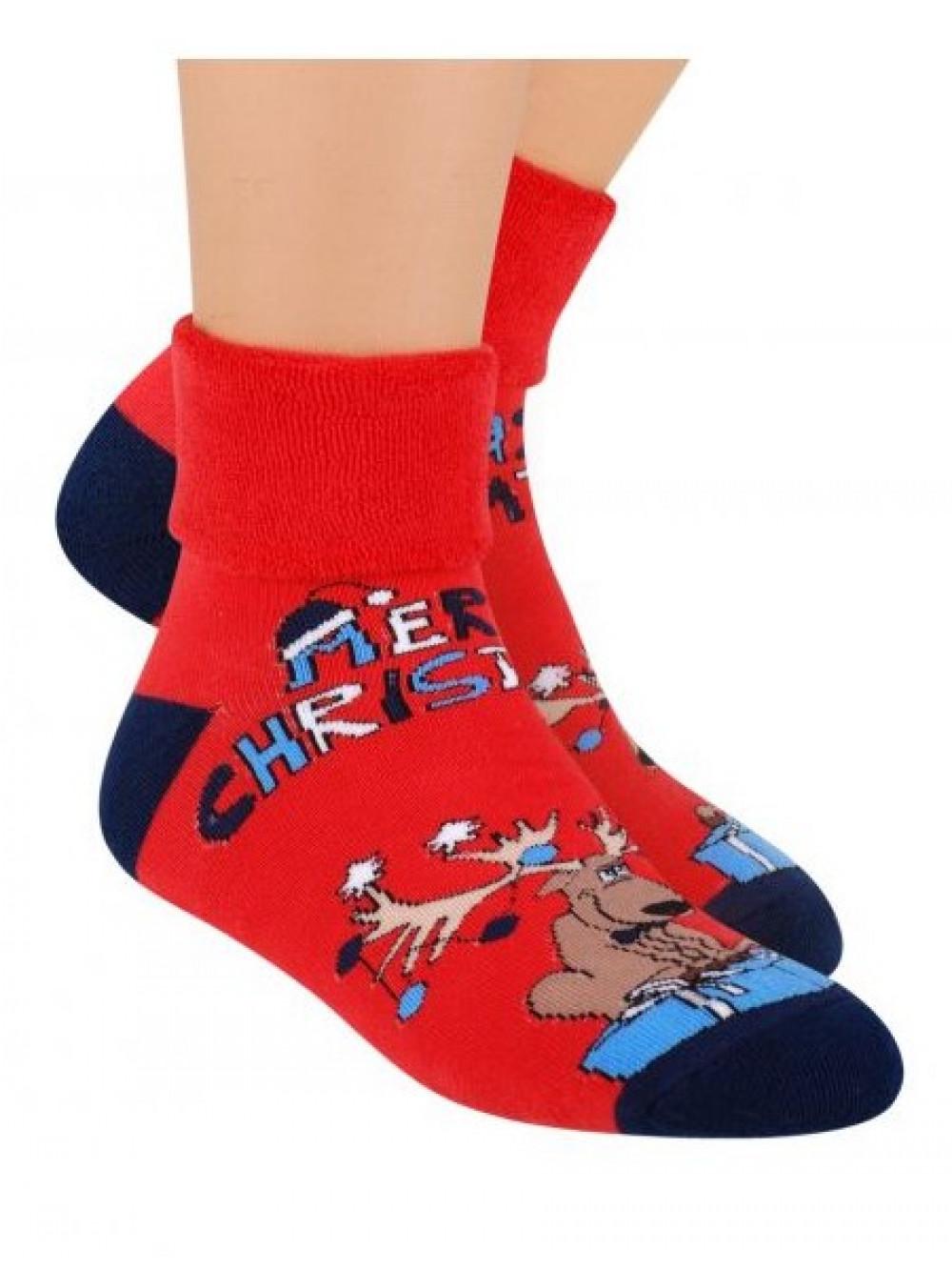 Vianočné ponožky Steven Merry Christmas Red