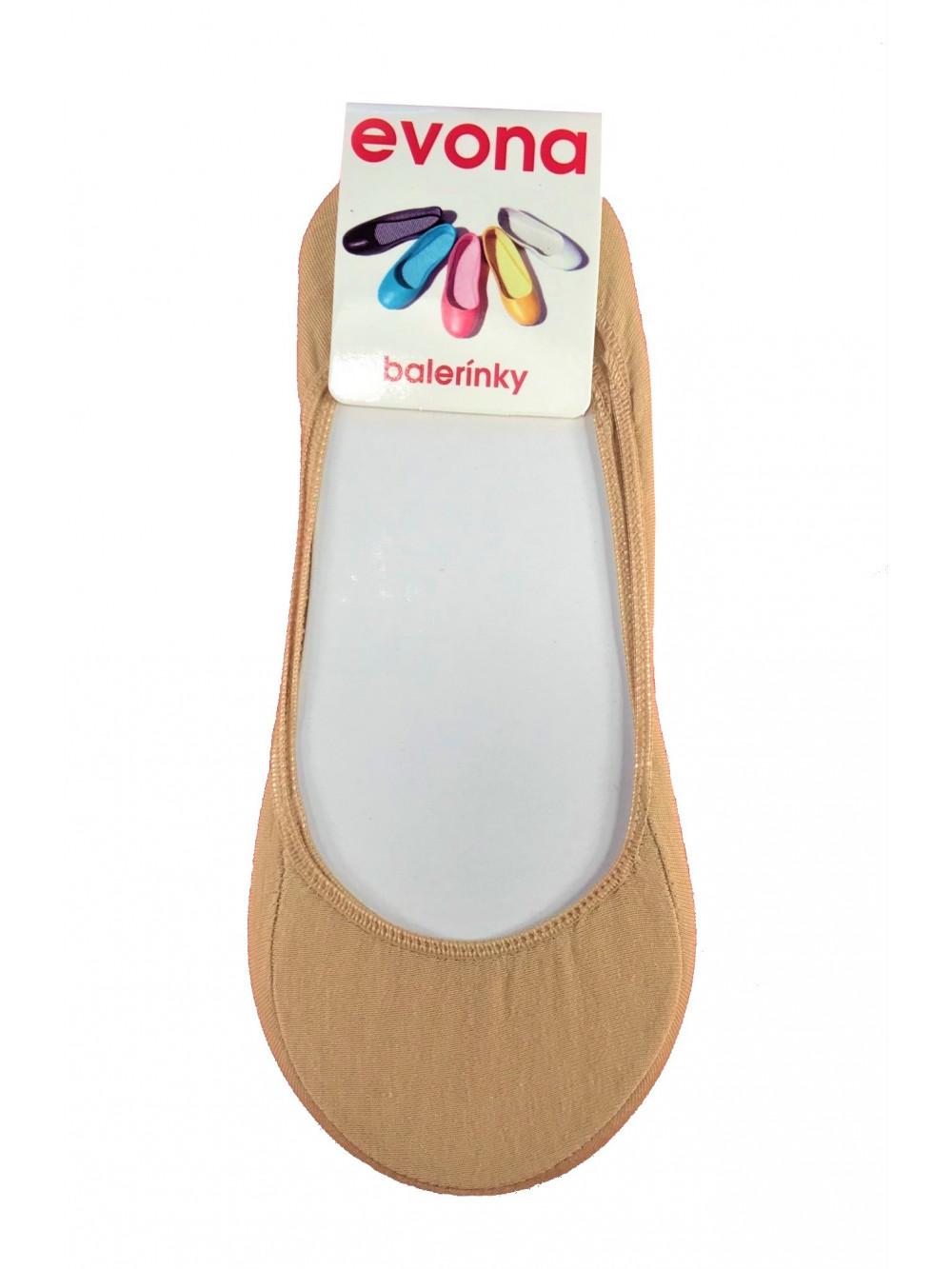 Ponožky Evona baleríny béžové