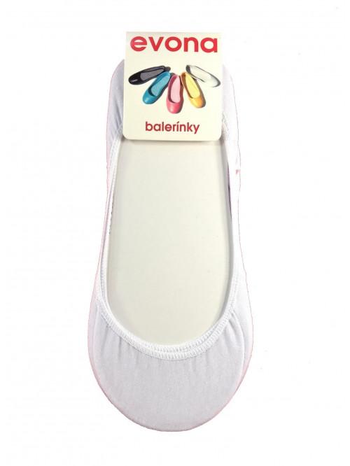 Ponožky Evona baleríny biele