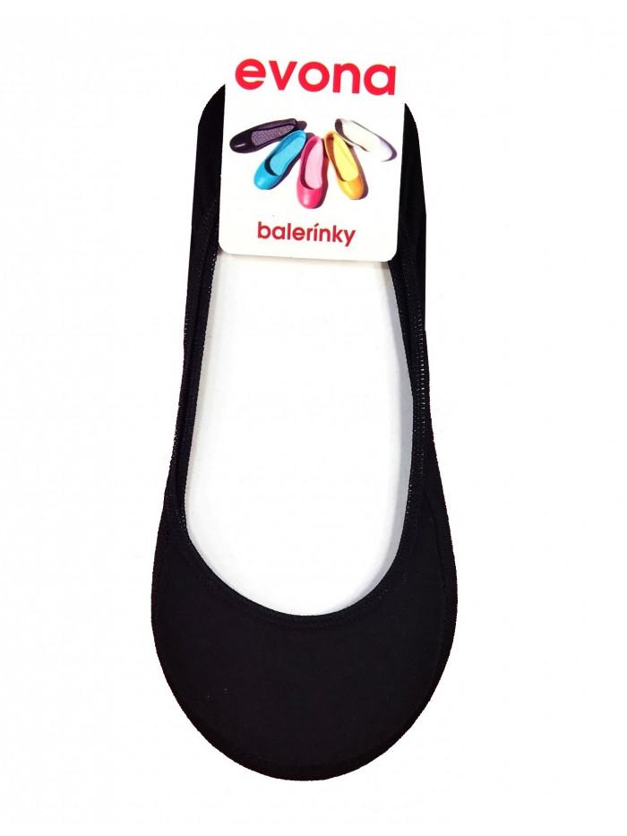 Ponožky Evona baleríny čierne
