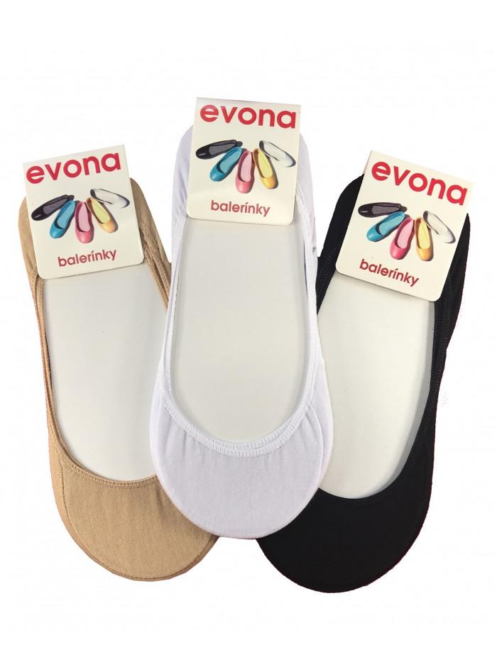Ponožky Evona baleríny 3 Pack