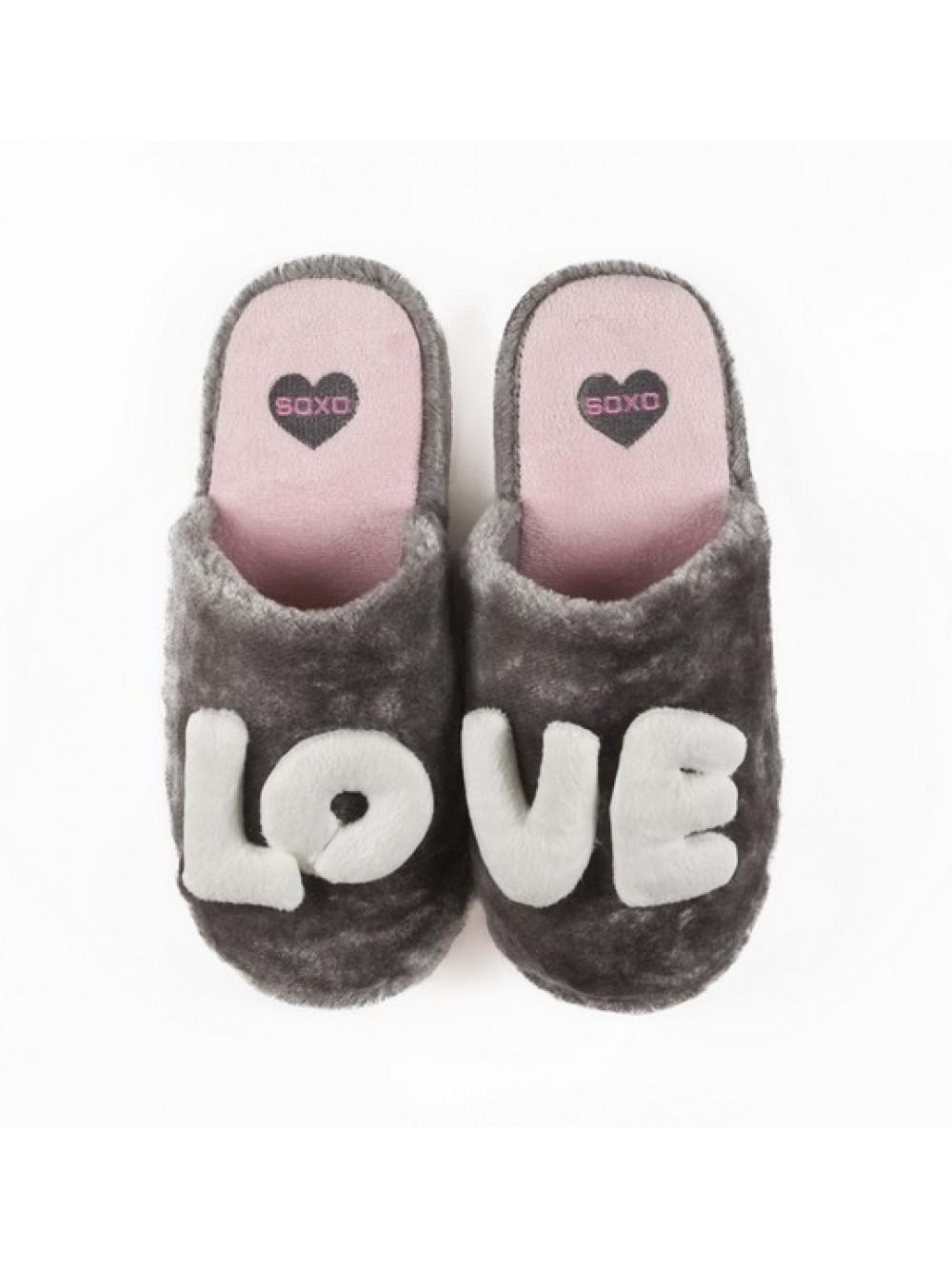 Papuče Soxo Love Grey