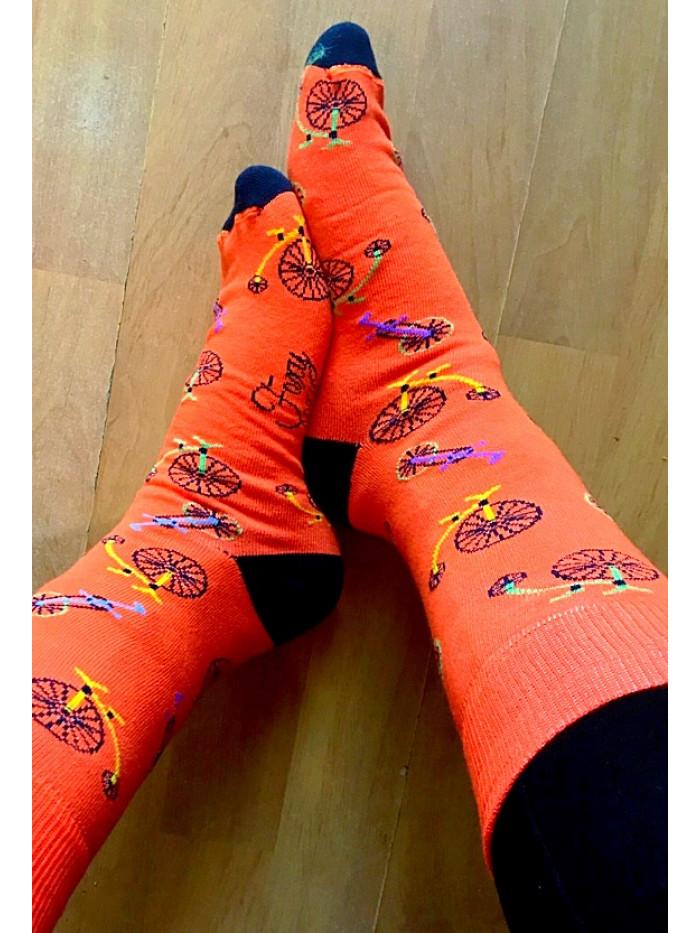 Ponožky Foxysoxy Bicykel oranžové