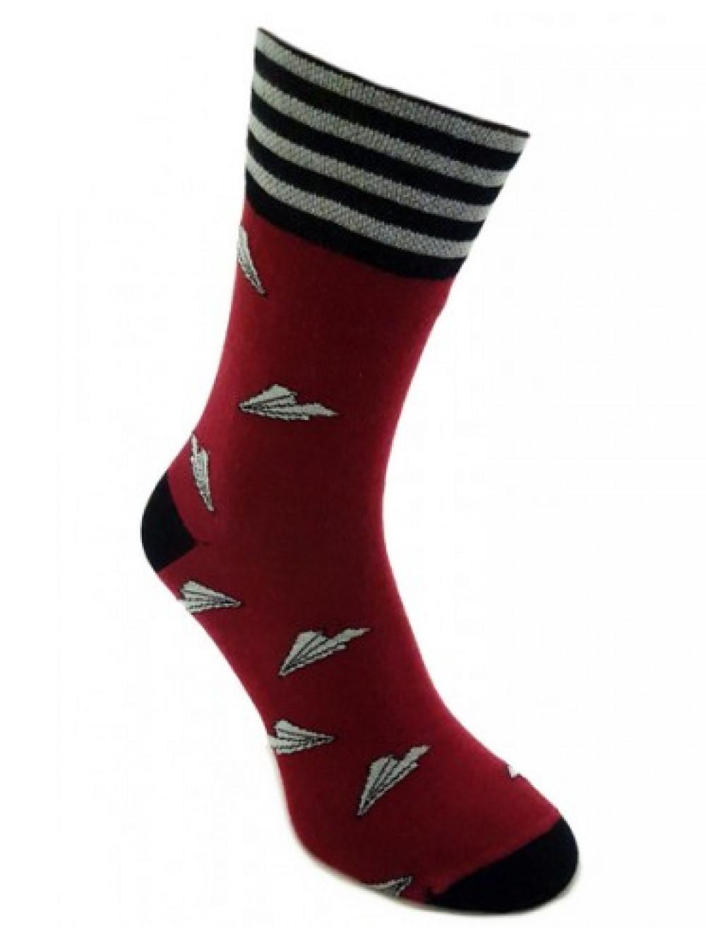 Ponožky Foxysoxy Lietadielko bordové