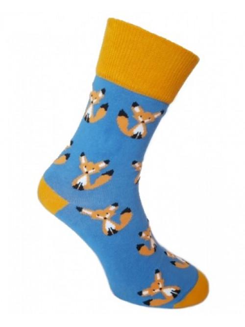 Ponožky Foxysoxy Líška modré