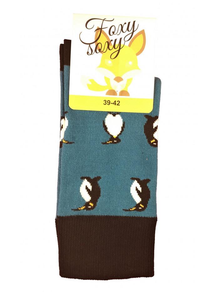 Ponožky Foxysoxy Penguin modré