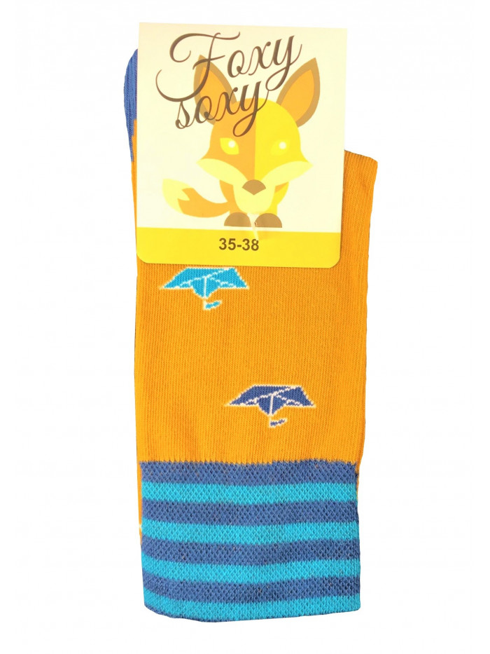 Ponožky Foxysoxy Lodičky oranžové