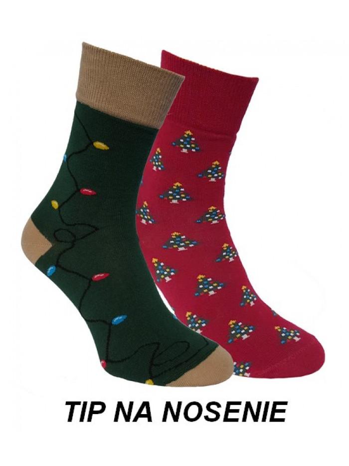 Ponožky Foxysoxy Vianočné Stromčeky