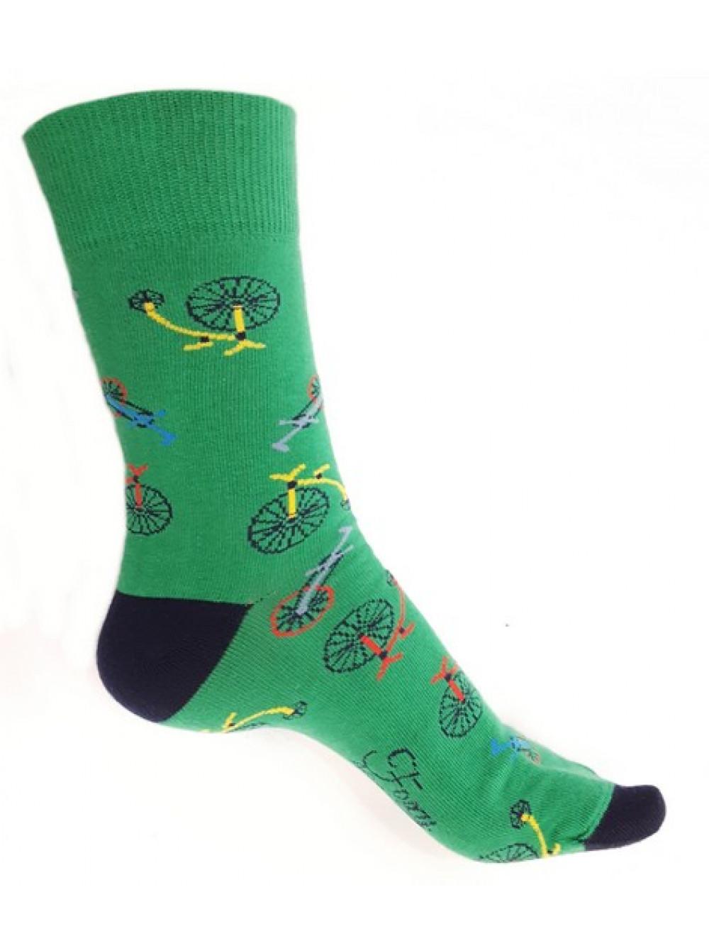 Ponožky Foxysoxy Bicykel zelené