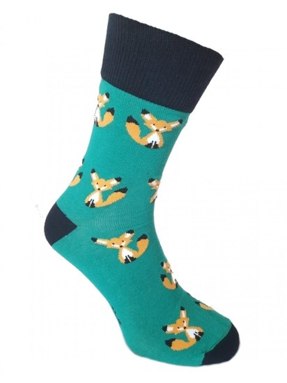 Ponožky Foxysoxy Líška zelené