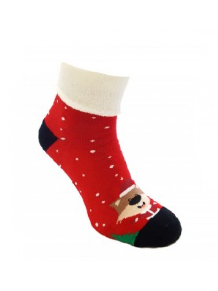 Ponožky Foxysoxy vianočná Líška červené