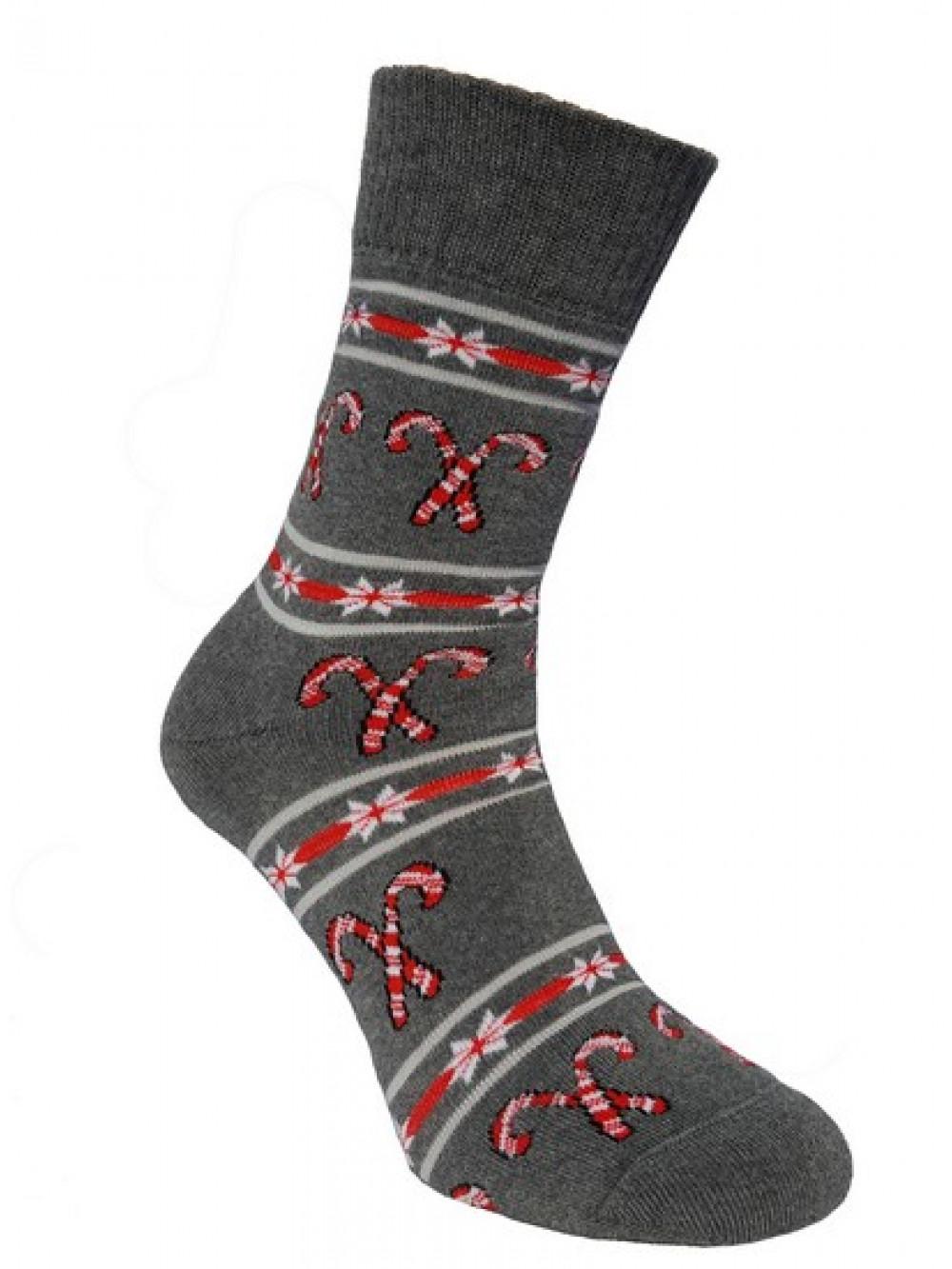 Ponožky Foxysoxy Vianočné Cukrovinky Sivé