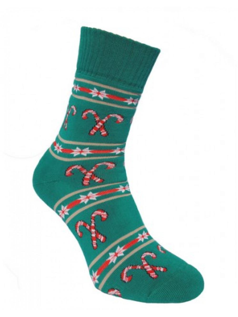 Ponožky Foxysoxy Vianočné Cukrovinky Zelené