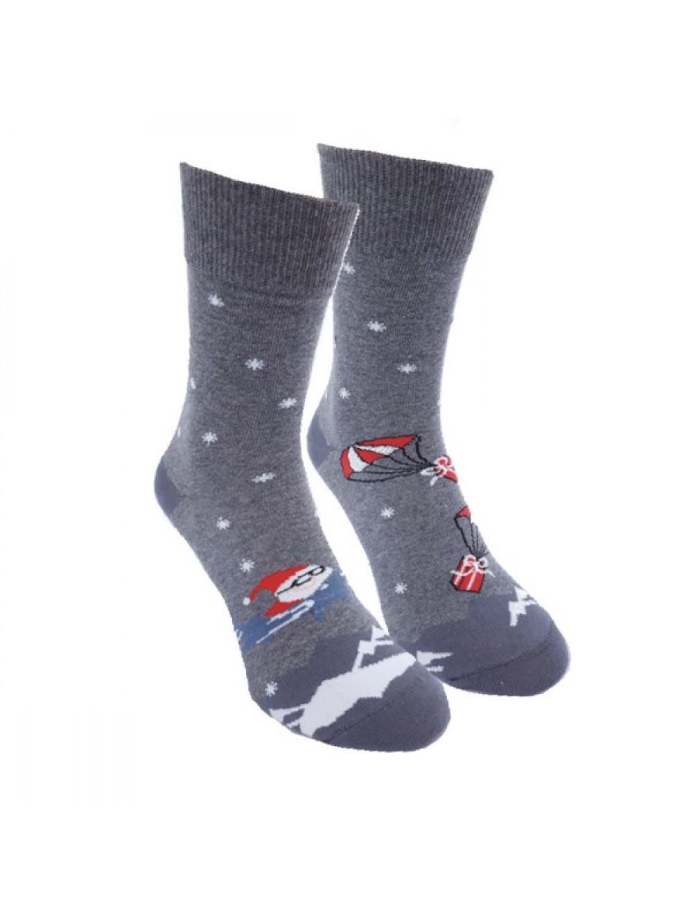 Ponožky Foxysoxy Lietajúci Mikuláš Sivé