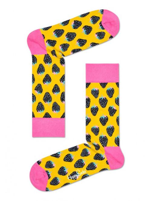 Ponožky Happy Socks Strawberry Yellow