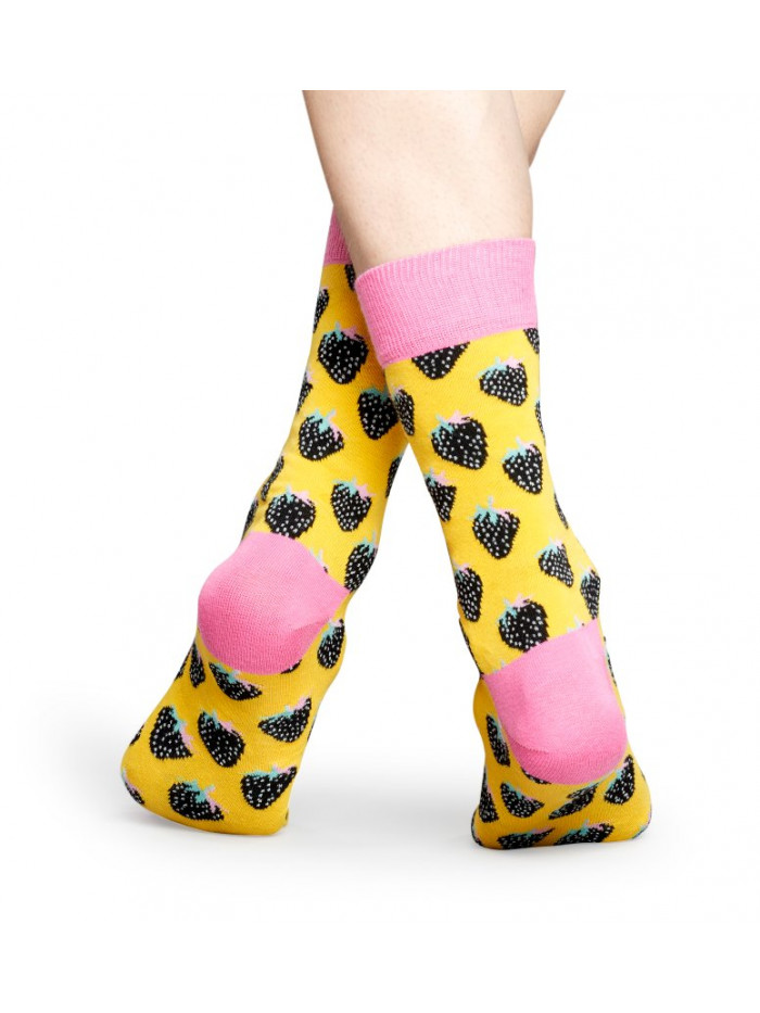 Ponožky Happy Socks Strawberry Yellow