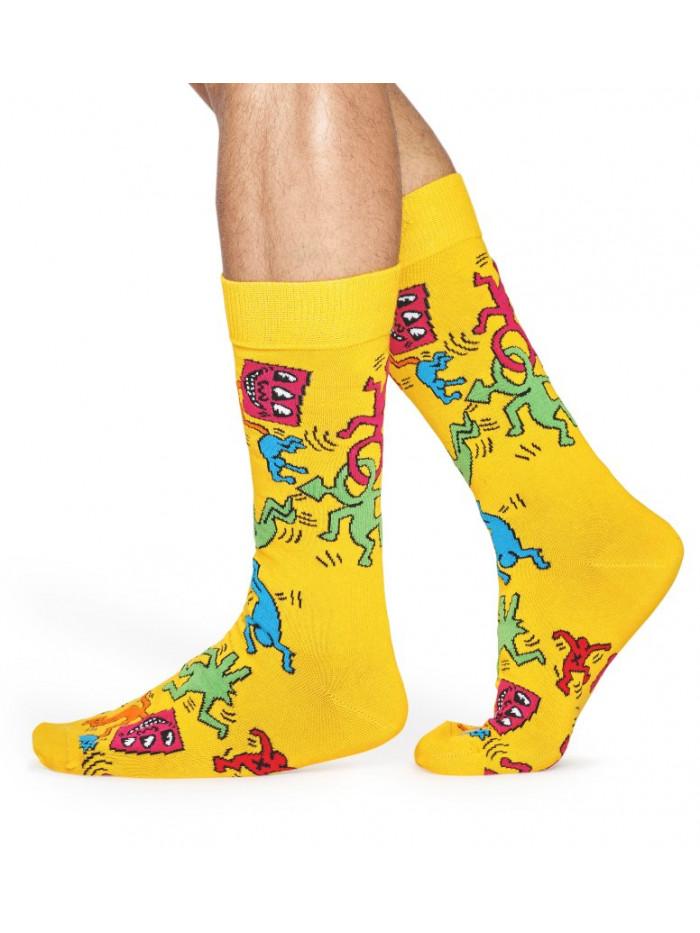 Ponožky Happy Socks Valentine's Day Yellow