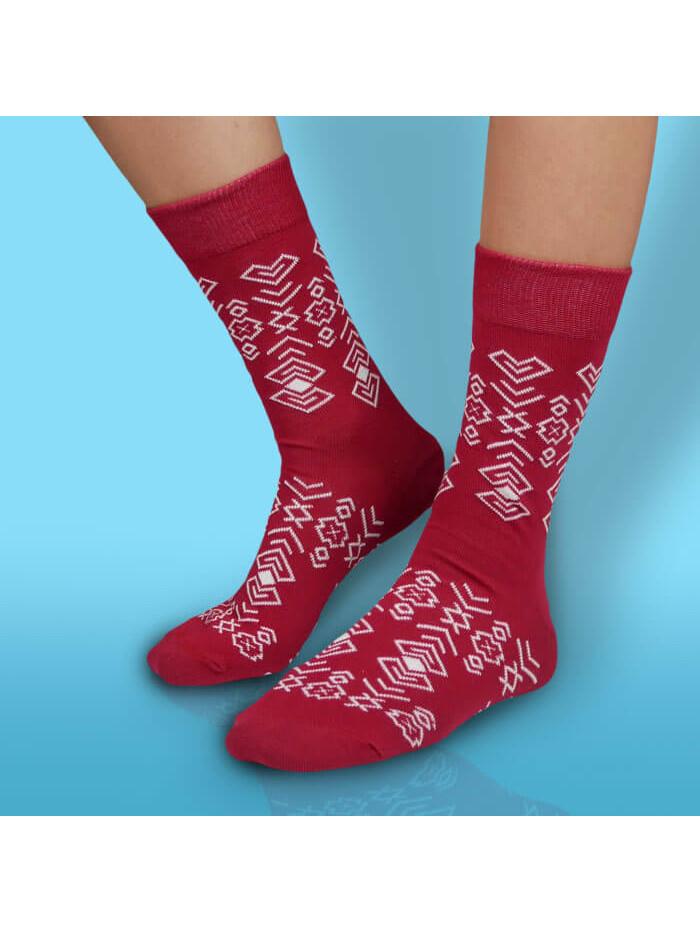 Ponožky Hesty Socks Čičman bordový