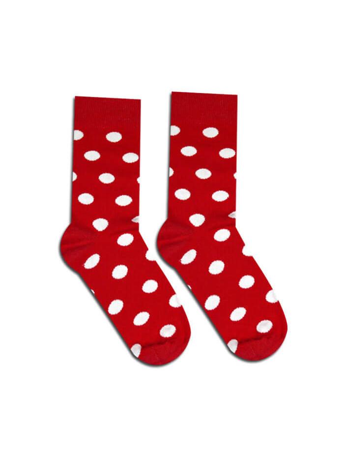 Ponožky Hesty Socks Bodky Kakavko červené