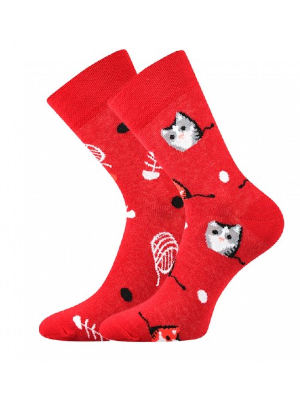 Ponožky Lonka Doble Cat Red