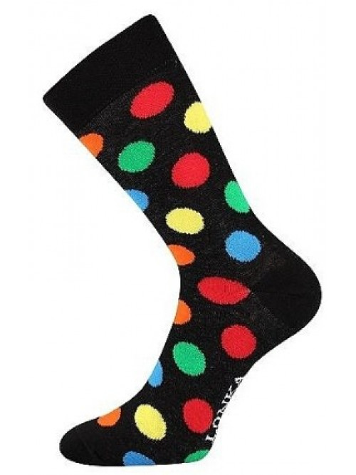 Ponožky Lonka Color Dots Black