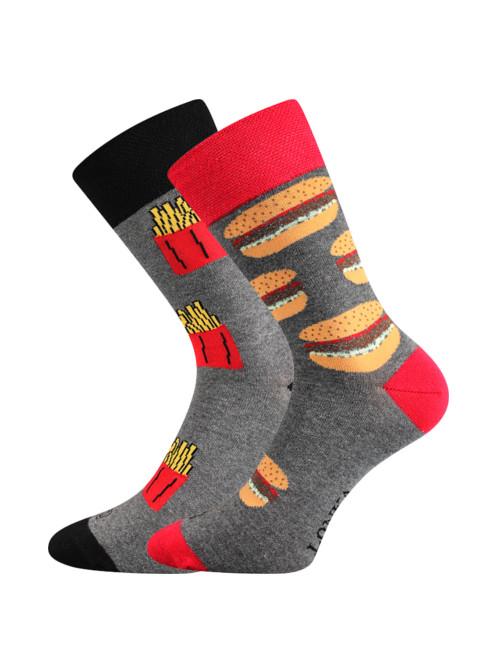 Ponožky Lonka Doble Hamburger s Hranolkami
