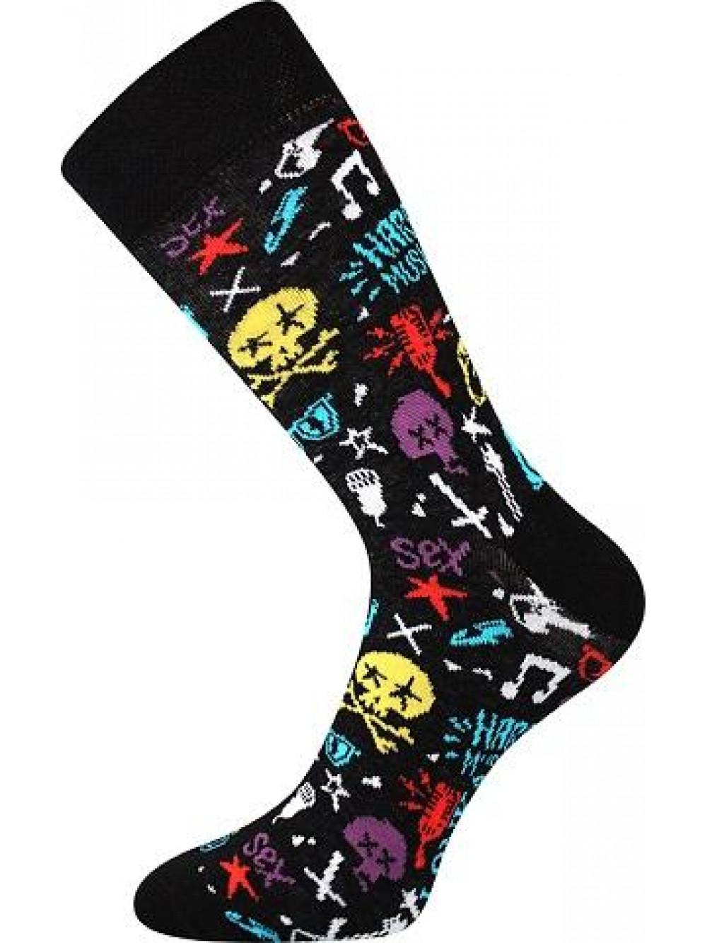 Ponožky Lonka Hard Rock Black