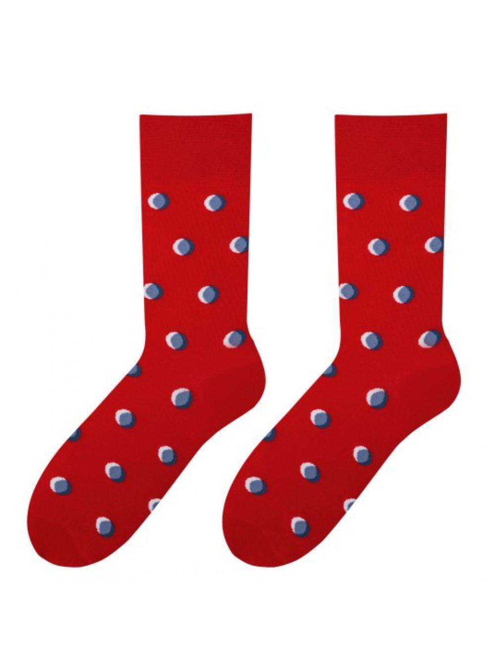 Ponožky More Red bodkované
