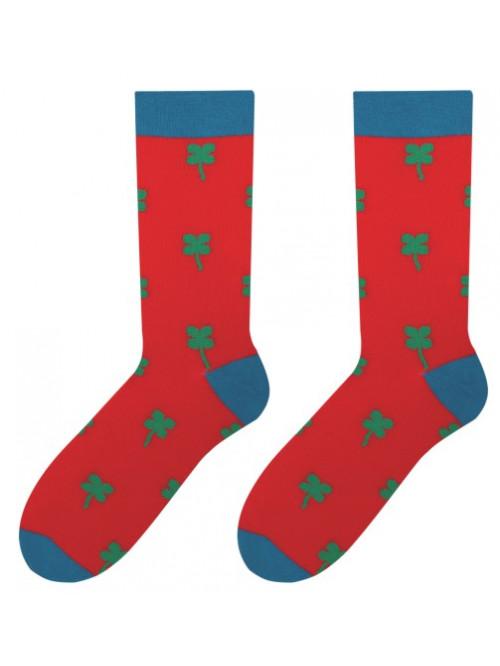 Ponožky More Štvorlístok Červené