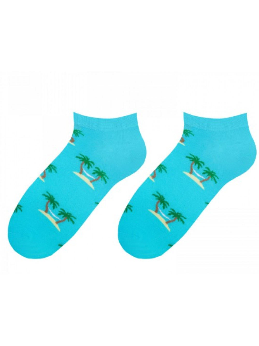 Ponožky More Palm Tree Tyrkys